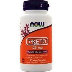 7 Keto 25mg 90vcaps NOW Foods