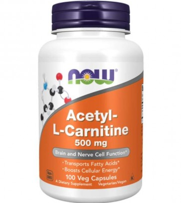 Acetyl-l-carnitine 500mg 100cp NOW Foods
