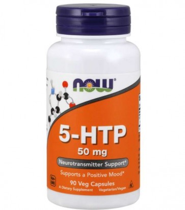 5 HTP 50mg 90 vcaps Now Foods