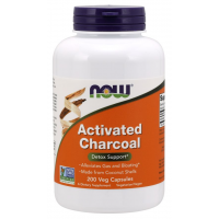 Activated Charcoal 200vcaps NOW Foods